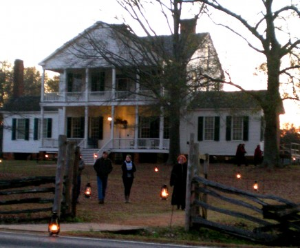 Twighlight view of Historic Brattonsville